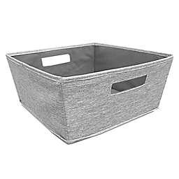 Squared Away™ Tweed Flared Large Storage Bin in Grey
