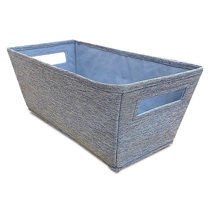 Alternate image 1 for Squared Away™ Flared Storage Bin in Denim