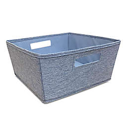 Squared Away™ Flared Large Storage Bin in Denim