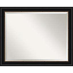 Amanti Art 32-Inch x 26-Inch Manhattan Framed Wall Mirror in Black