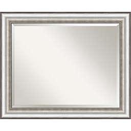 Silver 33 x 27 Bathroom Wall Mirror
