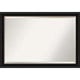 Amanti Art 40-Inch x 28-Inch Manhattan Framed Wall Mirror in Black
