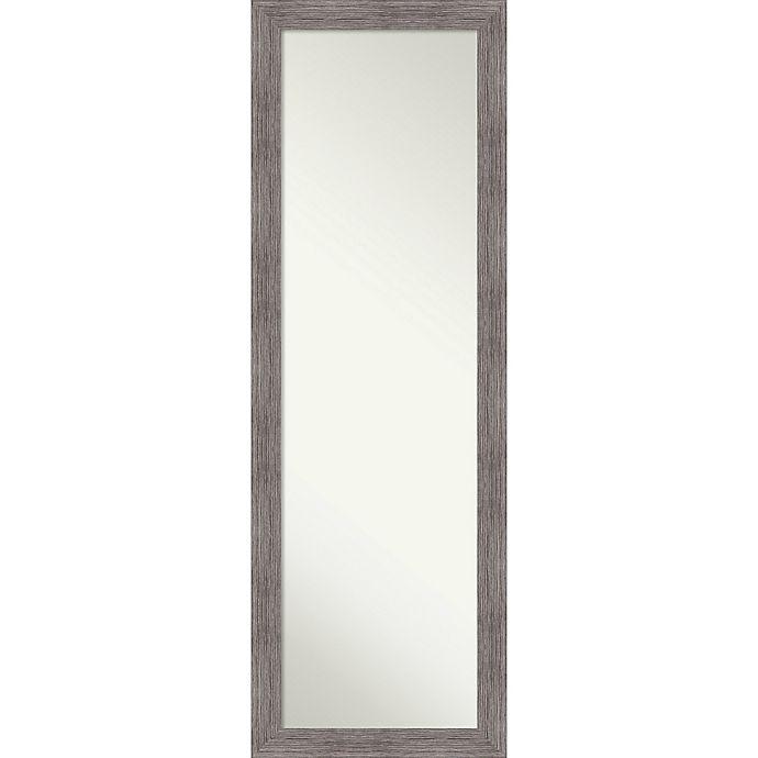Alternate image 1 for Pinstripe Plank 17-Inch x 51-Inch Framed On Door Mirror