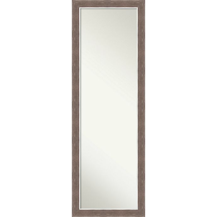 Alternate image 1 for Noble Mocha 17-Inch x 51-Inch Framed On the Door Mirror