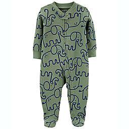 carter's® Elephant 2-Way Zip Thermal Sleep & Play in Green
