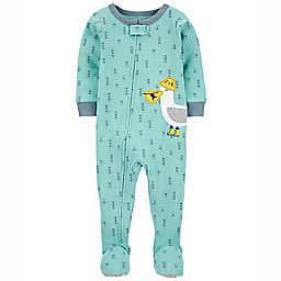 carter's® 1-Piece Seagull 100% Snug Fit Cotton Footie PJ in Blue