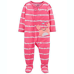 carter's® Size 24M Crab Loose-Fit Footed Pajama in Pink