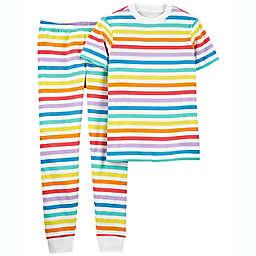 carter's® Adult 2-Piece Striped Pajama Set in Rainbow Pride