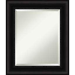 Amanti Art 22-Inch x 26-Inch Parlor Framed Wall Mirror in Black