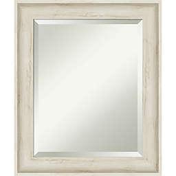 Amanti Art 21-Inch x 25-Inch Regal Birch Cream Framed Wall Mirror in White