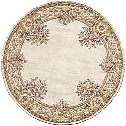 Momeni 4' X 4' Round Harmony 2 Area Rug in Ivory
