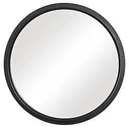 Uttermost 30-Inch Carey Round Wall Mirror in Black