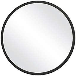 Uttermost Quinn 24-Inch Round Mirror in Black