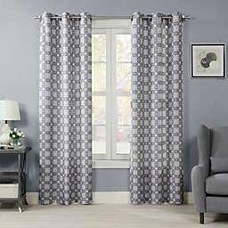 Crushed Mandala 84-Inch Grommet Room Darkening Window Curtain Panel