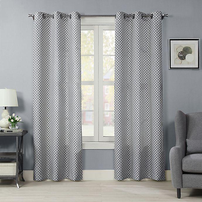 Alternate image 1 for Crushed Ironwork 84-Inch Grommet Room Darkening Window Curtain Panel (Single)