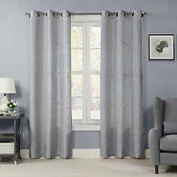 Crushed Ironwork 84-Inch Grommet Room Darkening Window Curtain Panel (Single)