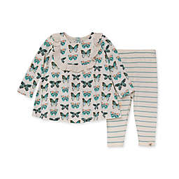 Burt's Bees Baby® 2-Piece Butterfly Chart Organic Cotton Tunic and Legging Set in Blue