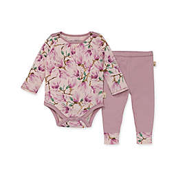 Burt's Bees Baby® 2-Piece Magnificent Magnolias Bodysuit and Pant Set in Pink