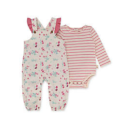 Burt's Bees Baby® 2-Piece Lovely Floral Jumpsuit and Bodysuit Set in Pink