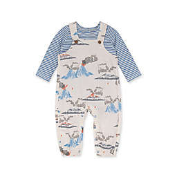 Burt's Bees Baby® Size 0-3M 2-Piece Volcanic Eruption Overall and Bodysuit Set in Eggshell