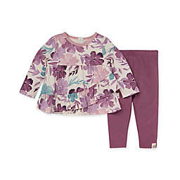 Burt's Bees Baby® Size 24M 2-Piece Museum Floral Tunic and Legging Set in Purple/Teal