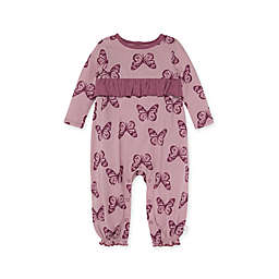 Burt's Bees Baby® Butterfly Conservatory Long Sleeve Jumpsuit in Berry