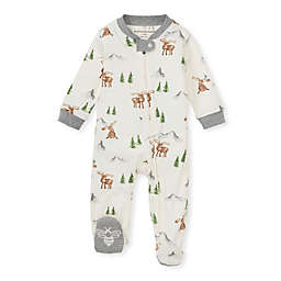Burt's Bees Baby® On the Range Loose Fit Organic Cotton Sleep & Play Footie in Ivory