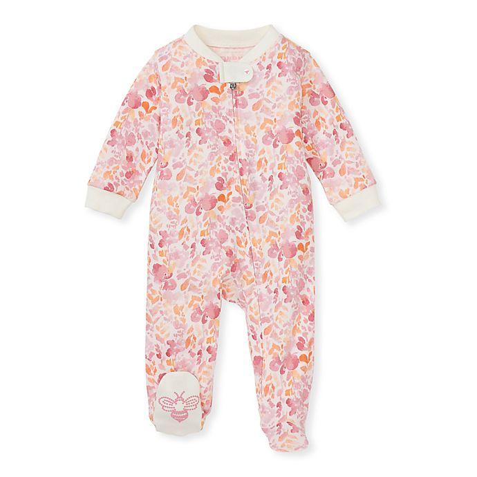 Alternate image 1 for Burt's Bees Baby® Wild Floral Sleep & Play Footie in Pink/Orange