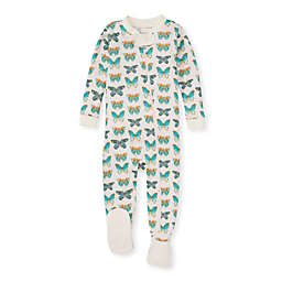 Burt's Bees Baby® Butterfly Chart Organic Cotton Footed Pajama in Blue/Orange