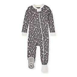Burt's Bees Baby® Organic Cotton Wacky Alphabet Footed Pajama in Grey