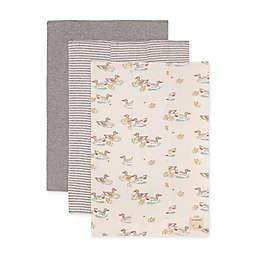 Burt's Bees Baby® 3-Pack Splashing Ducks Organic Cotton Burp Cloths in Heather Grey