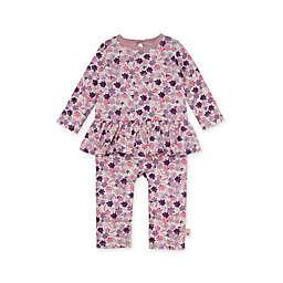 Burt's Bees Baby® Organic Cotton Ditsy Museum Garden Jumpsuit in Pink/Purple