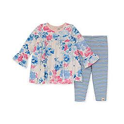 Burt's Bees Baby® Organic Cotton Sunset Bloom Tunic and Legging Set in Pink/Blue