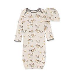 Burt's Bees Baby® Size 0-6M 2-Piece Splashing Ducks Gown and Cap Set in Eggshell