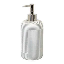 Studio 3B™ Geo Stripe Lotion Pump Dispenser in Coconut Milk