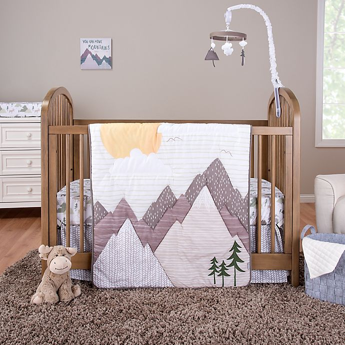 Alternate image 1 for Trend Lab® Mountain Baby 3-Piece Crib Bedding Set in Grey