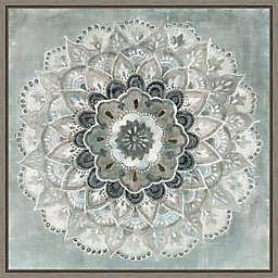 Sunburst Neutral 16-Inch Square Framed Wall Art