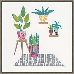 Namaste Houseplants V 16-Inch Square Framed Wall Art