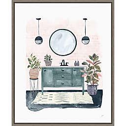 Lulus Powder Room 16-Inch x 19.62-Inch Framed Wall Art