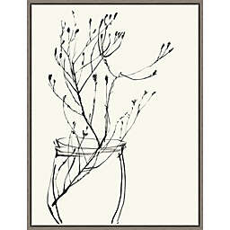 Naive Flower Sketch VI 18-Inch x 23.5-Inch Framed Wall Art
