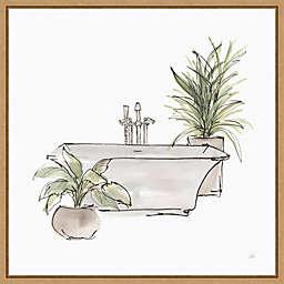 Neutral Bathroom Tub II 16-Inch Square Framed Wall Art