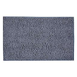 """Simply Essential™ 21"""" x 34"""" Super Sponge Entryway Door Mat in Blue"""
