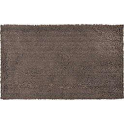 """Simply Essential™ 22"""" x 47"""" Super Sponge Entryway Door Mat in Brown"""