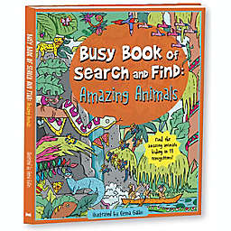 """""""Busy Book of Search and Find: Amazing Animals"""" illustrated by Gema Galan"""