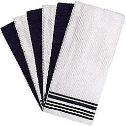 Bumble Towels Weft Insert Kitchen Towels in Navy (Set of 6)