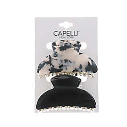 Capelli® New York 2-Pack Claw Clips in Marble/Black