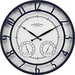 FirsTime & Co. Laguna Outdoor Clock in Navy/White