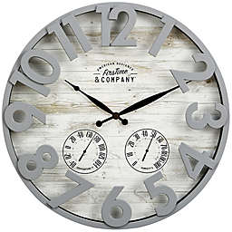 FirsTime & Co. Sherwood Shiplap Outdoor Clock