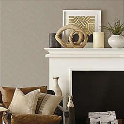 RoomMates® Herringbone Weave Peel & Stick Wallpaper in Brown/Taupe