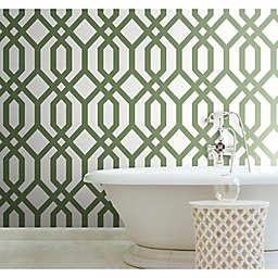 RoomMates® Gazebo Lattice Peel & Stick Wallpaper in Green/White